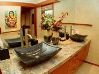 Guest bath, granite sinks