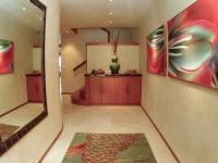 1 Custom koi rug, plaster walls