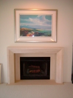 New fireplace, art