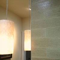 Textured glass wall tile