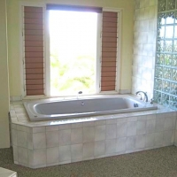 Tub area before