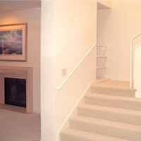 New fireplace, stairs