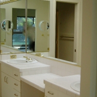 Master bath vanity before