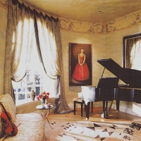 Music room, custom settee