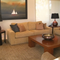 Custom sofas, tables