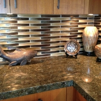 Recycled glass tile, granite