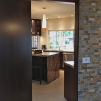 New passage: wenge, teak, slate